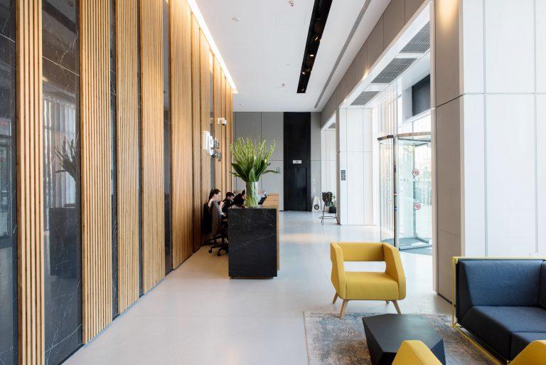 שמיים ירוקים, חיפוי פנים משרדים הרצליה Hills